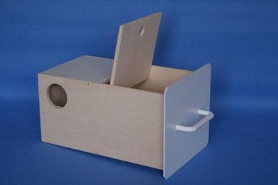 Nestkast parkietenblok hout 16x29x18.5 hoog