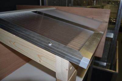 polycarbonaat dak met blank profiel