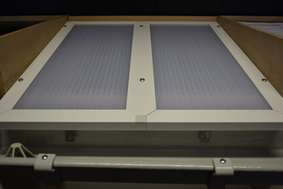 polycarbonaat dak wit profiel